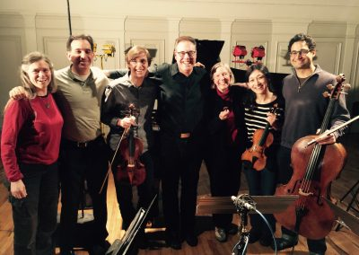 recording the Piano Quartet with the Boston Chamber Music Society, March 2017